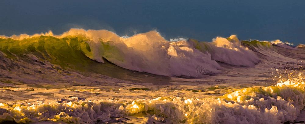 Waves crashing illustration