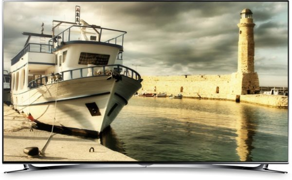 TV Monitor showing a boat