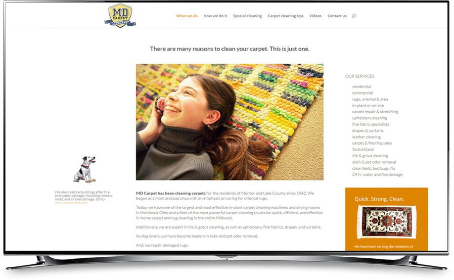 MD Carpet website home page