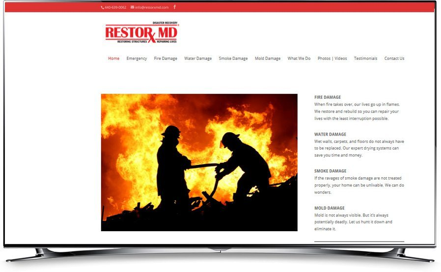 RestorX MD website home page