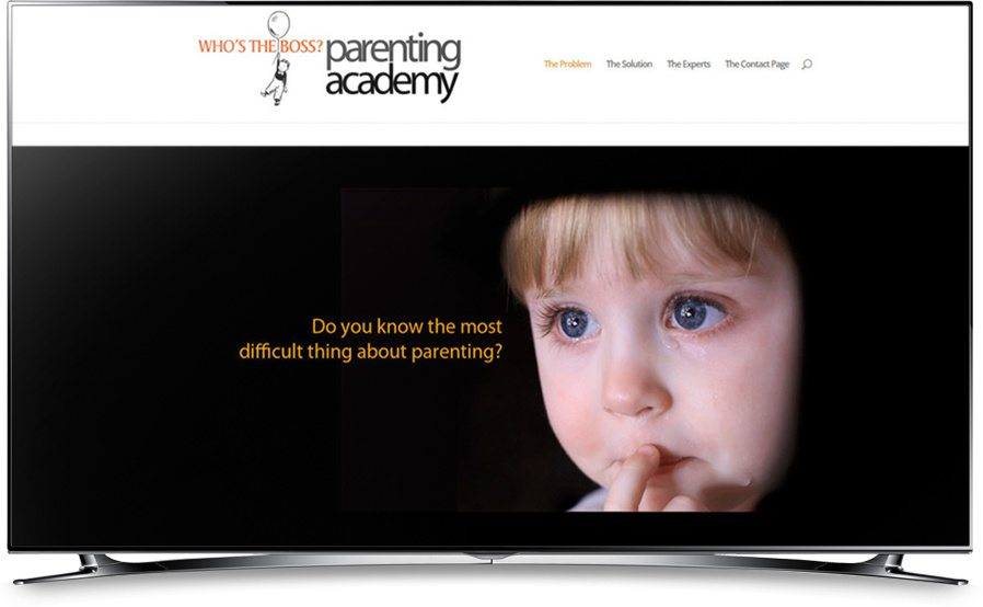 Who's the Boss Parenting Academy website home page