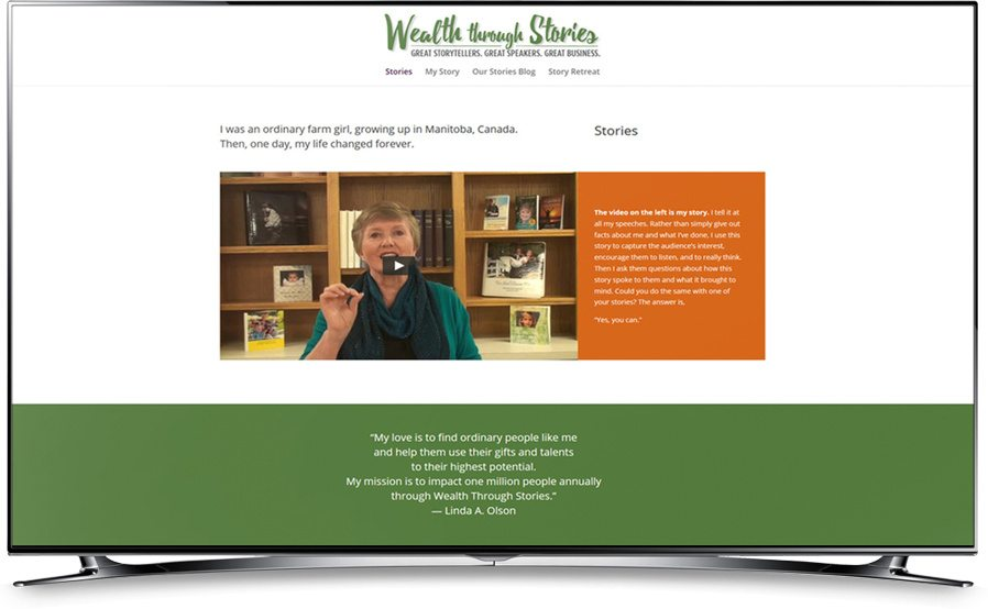 Wealth Through Stories website home page