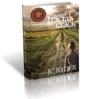 Sitting on a Fractal Crack of Time 3D Book Cover | Bronze Ippy