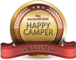 martinDESIGN Happy Camper Badge