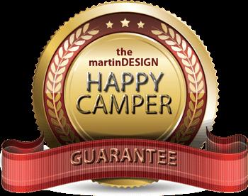 martinDESIGN Happy Camper Badge